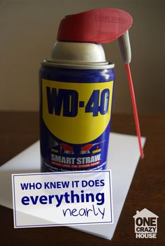 REASONS WHY WD-40 IS YOUR NEW BEST FRIEND   We all know WD-40 is great stuff, but did you know it could do all THIS? There are tons of great things you can do with this stuff and you will soon see why WD-40 is your new best friend and wonder how you ever lived without it. [click thru]