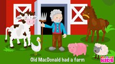 Old MacDonald Had a Farm Nursery Rhyme with Lyrics - Cartoon Animation R...