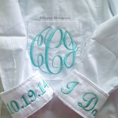 Monogrammed Bridal Shirt!  $35  Getting Ready Shirt by Elegant Monograms      This is the newest craze in wedding apparel!