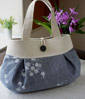 sold 2011 Denim Handbags, Fabric Handbags, Diy Bag Designs, Diy Bags Purses, Denim Crafts, Diy Handbag, Denim Bag, Purse Patterns, My Bags