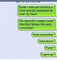 Oh Yeah :D For more like Funny iPhone Autocorrect Fails - http://blague.co/oh-yeah-d-for-more-like-funny-iphone-autocorrect-fails/
