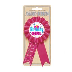 Make your little girl feel extra special with our Birthday Girl Award Ribbon. Pin on the Birthday Girl Award Ribbon and set a party atmosphere! Birthday Pins, Girl Birthday Themes, Kids Party Supplies, Halloween Costumes For Kids, Streamers, Confetti, Festive, Stars, Ribbons