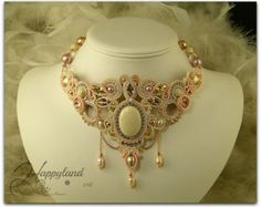 Sahara Sunrise , soutache necklace tutorial