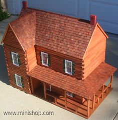 Ponderosa Log Doll House Kit, w/Logs - Miniature Log Home