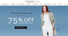 Fall Jackets & Glam Coats: Get Up to 7%% Discount For more Twinkle Deals coupon codes visit: http://www.couponcutcode.com/stores/twinkledeals/