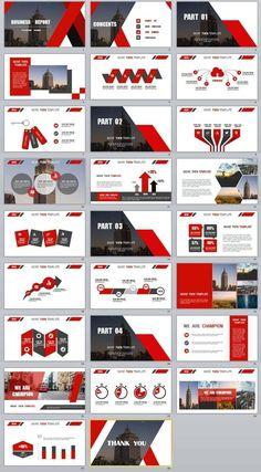 Презентация в красно-серых цветах. Интересные дизайны презентаций со всего света