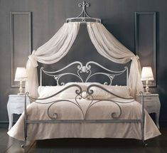 traditional wrought iron double bed DUCALE GIUSTI PORTOS