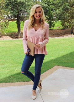 Swing Life Away Top in Peach | Monday Dress Boutique