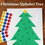 Christmas Alphabet Sticker Tree: Learning Letters