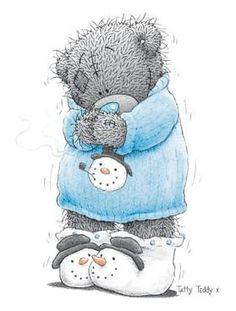 Blauwe Trui en Sneeuwmantoffels
