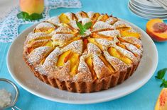 Peach Pie Recipe - Don't Waste- Peach pie recipe – The recipe for preparing a delicious pie with peaches, a nutritious and healthy dessert that allows you not to waste ripe fruit. Peach Cake Recipes, Pie Recipes, Dessert Recipes, Light Snacks, Flaky Pastry, Mince Pies, Dessert Bread, Fondant Cakes, Food Cravings