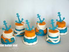 Sassy Smith I want these Mini Wedding Cakes, Mini Cakes, Mini Tortillas, Nautical Cake Pops, Fondant Cakes, Cupcake Cakes, Sea Cakes, Summer Cakes, Sugar Cake