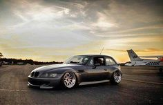 BMW Z3 M Coupe grey slammed