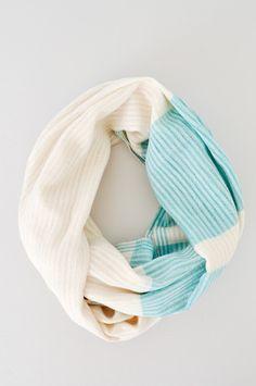 Open Weave Scarf - Aqua - hand woven in India - Fair Trade