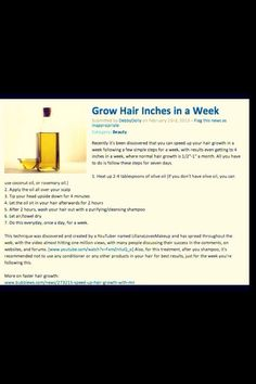 Easy Way To Grow Hair Fast