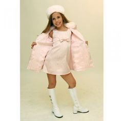 Hollywood Babe Pink Moire Fur Trim Pageant Interview Suit Girl 2T-16