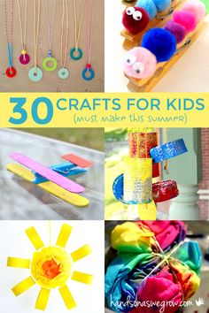 30 Must-Make Summer Crafts for Kids
