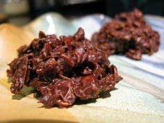 Paleo haystacks 2 oz Semisweet or Bittersweet Chocolate 1 Tbsp Extra Virgin Coconut Oil ¼ cup Shredded Unsweetened Coconut ½ cup Sliced Almonds ¼ cup Walnuts, chopped 1. Combine coconut, almonds and walnuts in a measuring cup or bowl. 2. Melt chocolate and coconut oil together in a large glass bowl in the microwave on medium power. 3. Stir in nuts into chocolate mixture. 4. Drop spoonfuls onto baking sheet linked with was paper while still warm. Refrigerate until set.