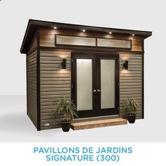 Build ANY Shed In A Weekend - Cabanon Innova — PAVILLONS DE JARDIN SIGNATURE Our plans include complete step-by-step details. If you are a first time builder trying to figure out how to build a shed, you are in the right place! Backyard Storage Sheds, Backyard Sheds, Outdoor Sheds, Shed Storage, Pool Shed, Garden Cabins, Studio Shed, Backyard Office, Modern Shed