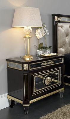 classic luxury lamp and bedside table louis xvi vimercati meda