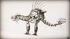 ArtStation - Robot Dinosaur - Horizon Zero Dawn fanart, Maarten Hof