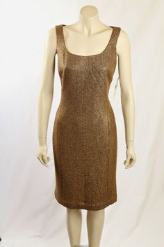 The dress is made in a wool blend, is fully lined and fitted style. Gold Work, Premium Brands, Dresses For Work, Formal Dresses, Wool Dress, Metallic Gold, Wool Blend, Size 14, How To Make