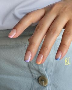#acrylicnails #acrylicnailsforsummer #cuteacrylicnailsforsummer #brightcolorsnails #nailsfall #nailsfalldippowder #coffinnails #mermaidnails Colored Nail Tips, Simple Nails, Classy Nails, Manicure, Fire Nails, Colour Tip Nails, Minimalist Nails, Funky Nails, Best Acrylic Nails