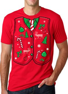 Hey, I found this really awesome Etsy listing at https://www.etsy.com/listing/165253557/ugly-sweater-vest-t-shirt-funny