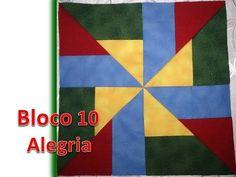 Projeto Patchwork - Bloco 10 - Alegria - YouTube