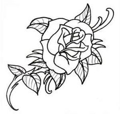 Old School Rose Outline By Vikingtattoo On DeviantART
