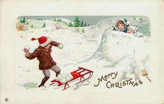 Vintage snow postcard.
