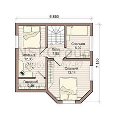 ДОК-90 / Горожанин. ГК «НАНОСФЕРА» Tiny House Plans, House Floor Plans, Villa, Small House Design, Home Projects, Living Room Designs, Layout, How To Plan, Home Decor