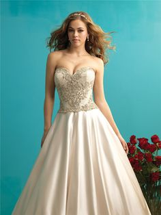 Ball Gown with Adorned Bodice - 24 Elegantly Tailored Wedding Dresses for Pear…