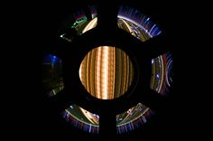 Star trails as seen through ISS Window on the World