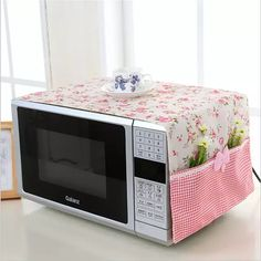 small flower Cotton Dust Cover Microwave Cover Microwave Oven Hood - Microwave Oven - Ideas of Microwave Oven - small flower Cotton Dust Cover Microwave Cover Microwave Oven Hood Microwave Cover With Storage Bag -in Microwave Oven Covers from Home Diy Home Crafts, Sewing Crafts, Diy Home Decor, Sewing Projects, Linen Storage, Bag Storage, Diy Para A Casa, Oven Hood, Microwave Oven