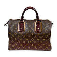 Louis Vuitton - Louis Vuitton Monogram Mirage Bordeaux Speedy 30 Bag, found on #polyvore. #bags #bolsas