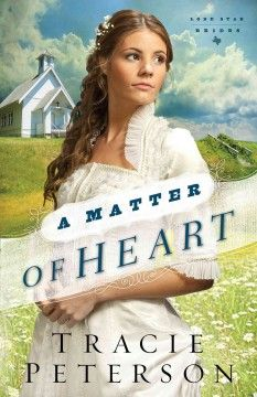 A matter of heart by Tracie Peterson.  Click the cover image to check out or request the romance kindle.