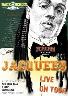 Сообщество иллюстраторов | Иллюстрация Jaquees тур постер.
