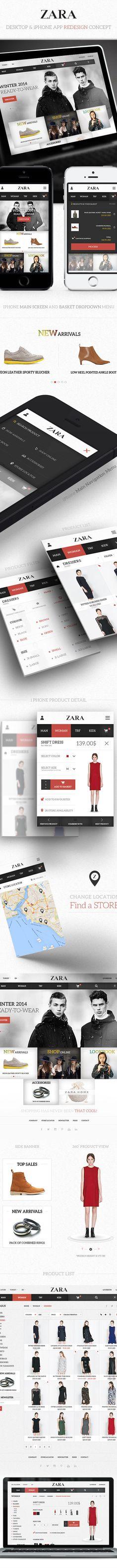 Zara / Desktop & iPhone App Redesign