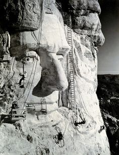 Abraham Lincoln at Mt. Rushmore S.D. in 1938. by Charles D'Emery