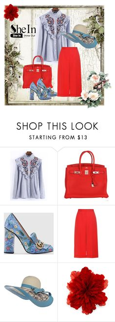 """She's In Vogue"" by cozeequilts ❤ liked on Polyvore featuring WithChic, Hermès, Gucci and Alexander McQueen"