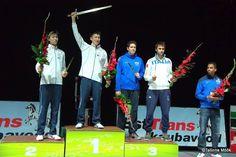 46° Glaive de Tallin Podium: Gold Kazuyasu MINOBE , Silver Satoru UYAMA, Bronze Gauthier GRUMIER (FRA) and Enrico GAROZZO (ITA) (Photo: Joosep MARTINSON)