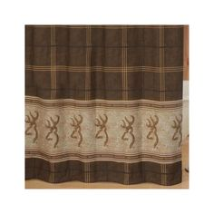 Browning Buckmark Shower Curtain Brown - Browning