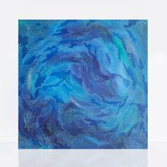 In bold blues this abstract painting was inspired by the the ocean. Blue Abstract Painting, Acrylic Painting Canvas, Canvas Art, Swirl Pattern, Pattern Art, Original Artwork, Original Paintings, Australian Photography, Colorful Paintings