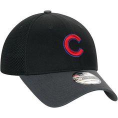 9eaf904e7fd Men s Chicago Cubs New Era Black Neo 39THIRTY Flex Hat