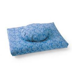 Lotus Hand-Block Print ZZSet, blueberry #meditationcushions #meditationgifts #afflink
