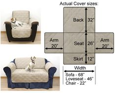 Furniture protector in quilted suede definitely protects your couch.