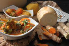 Food Inspiration, Thai Red Curry, Vegan, Ethnic Recipes, Turmeric, Vegans