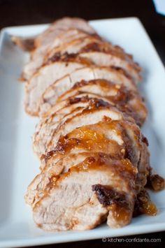 Indonesian Pork Tenderloin by kitchen-confidante: Spiced with soy, peanut butter, red pepper flalkes, garlic and mango chutney! #Pork_Tenderloin #kitchen-confidante