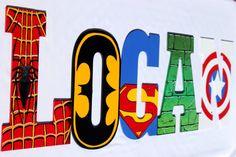 Superhero Hand Painted Wooden Letters-Superman, Spider-Man, The Hulk, Cptn America, Batman, Wolverine, Ironman, Flash, GreenLantern